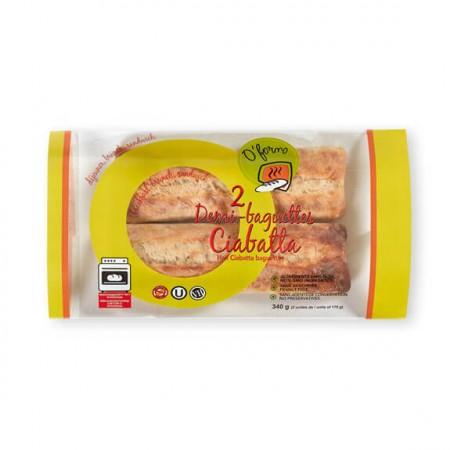 2 Ciabatta Half Baguettes