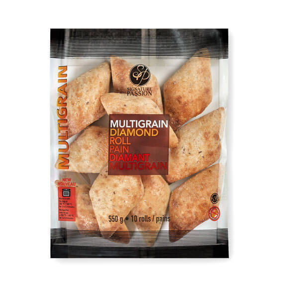 Mulitgrain Diamond Dinner Rolls