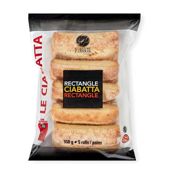Rectangle Ciabatta (5 pack)